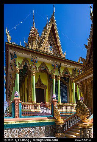 Khmer pagoda. Tra Vinh, Vietnam
