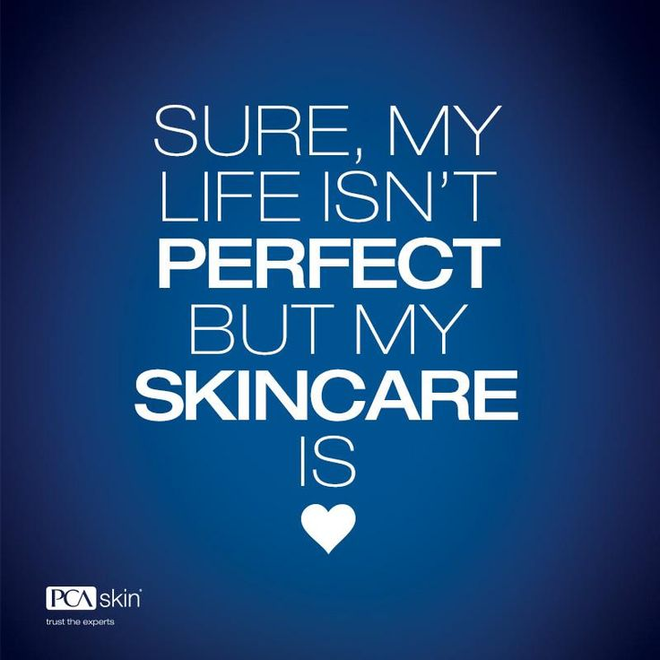 Who needs a perfect life when you have perfect skin? #pcaskin #youarebeautiful