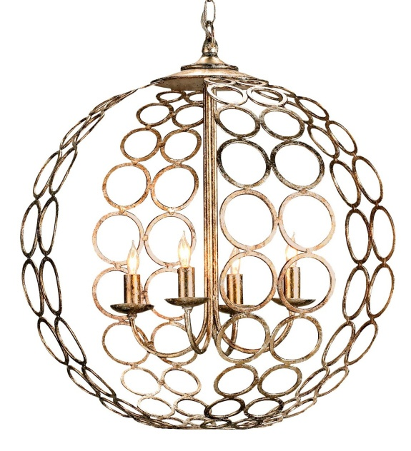 Currey Company Tartufo Round Golden Chandelier Lighting