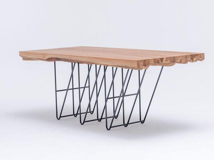 Table à manger rectangulaire en bois massif MASIV OAK by ST FURNITURE