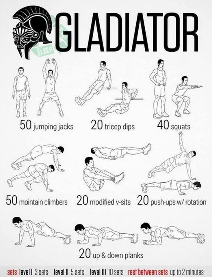 Gladiator Workout || I just got off my lazy rear and now IT HURTS! lol. Definitely doing this at 4am when I wake up!