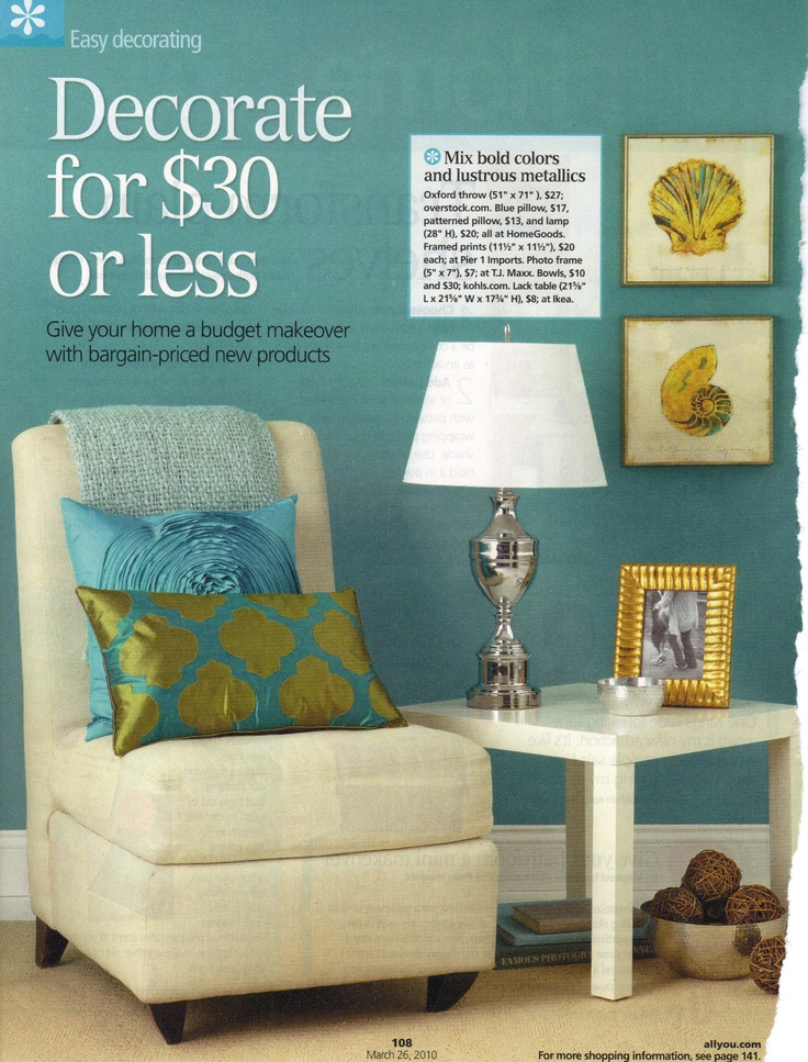 Teal And Citron Colors Dining Room