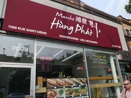 """""""Marché Hung Phat 7099 St Denis Street For a quick and casual bite, pick up a banh mi sandwich from this Vietnamese grocery store. Marché Hung Phat fills a baguette with pork, chicken or tofu and tops it all with paté, homemade hoisin sauce, pickled vegetables and cilantro. Best of all, their banh mi will fill you up without breaking the bank. """""""