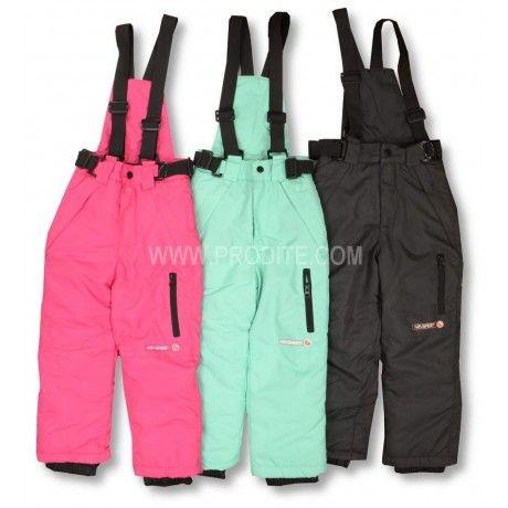 Dětské zateplené kalhoty s kšandami. #děti #zimní #oblečení #kalhoty #dětskámóda