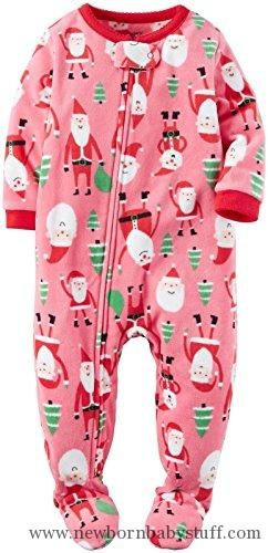 Baby Girl Clothes Carter's Girls' 1 Pc Fleece 357g180, Pink Santa Claus, 2T