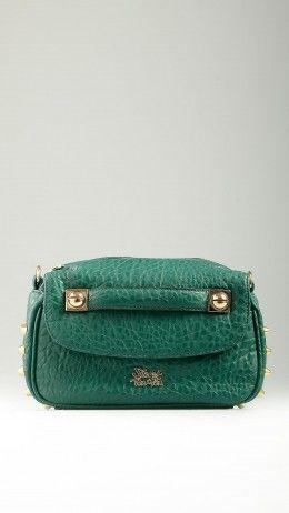 Emerald green Ripicì Thorny crossbody bag