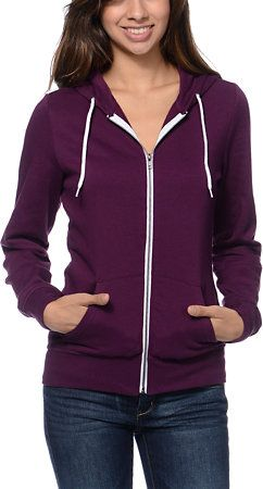 Zine Girls Potent Purple Zip Up Hoodie at Zumiez : PDP