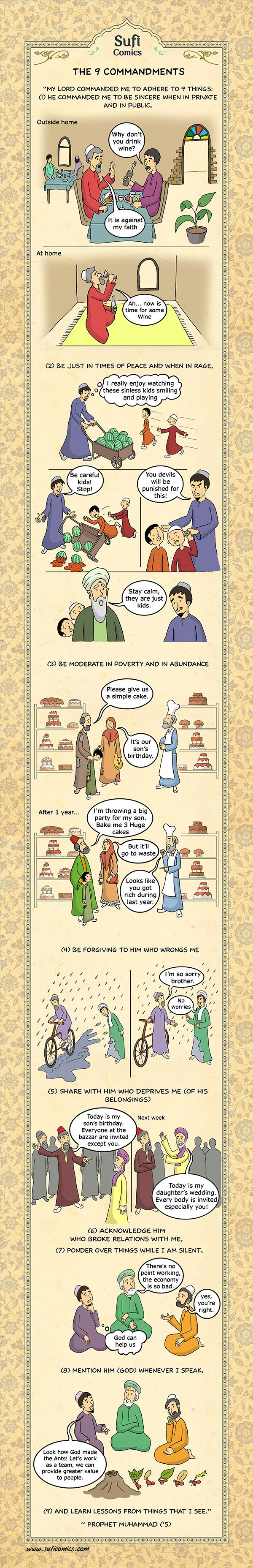 Sufi Comics: The 9 Commandments