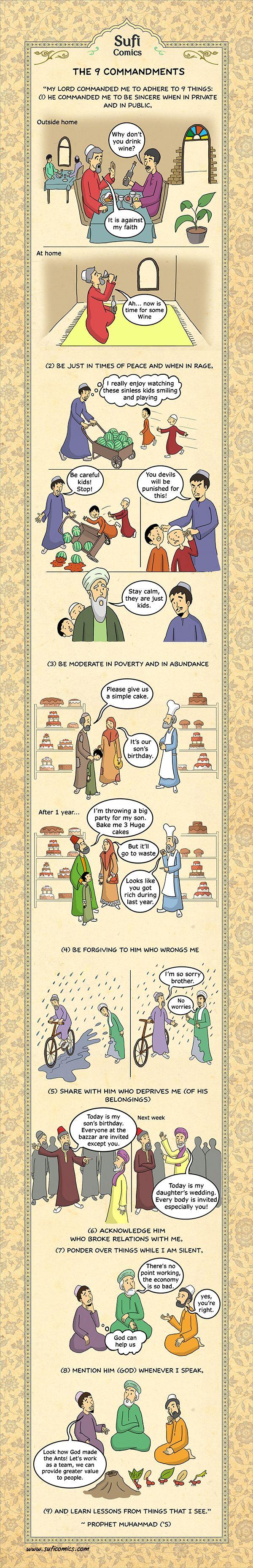 Sufi Comics: The 9 Commandments