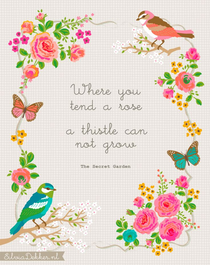 Secret Garden quote by Silvia Dekker. Available on Society6.