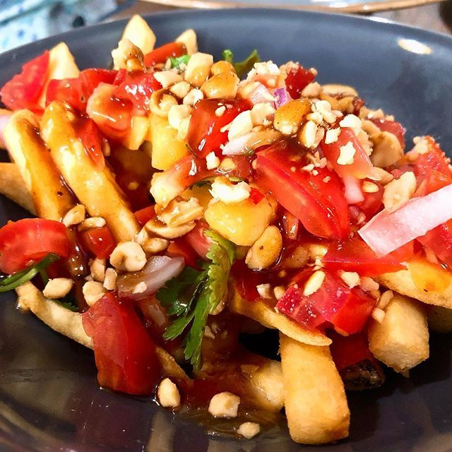 A Delightful Vegan Restaurant In The Centre Of Newcastle Delicious Sweet Chilli Fries With Hoi Sin Sauce Vegan Recipes Healthy Sweet Chilli Vegan Restaurants