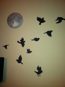 madár falmatrica, plafonra is - DIY Bird Decal - blackbird singin' in the dead of night