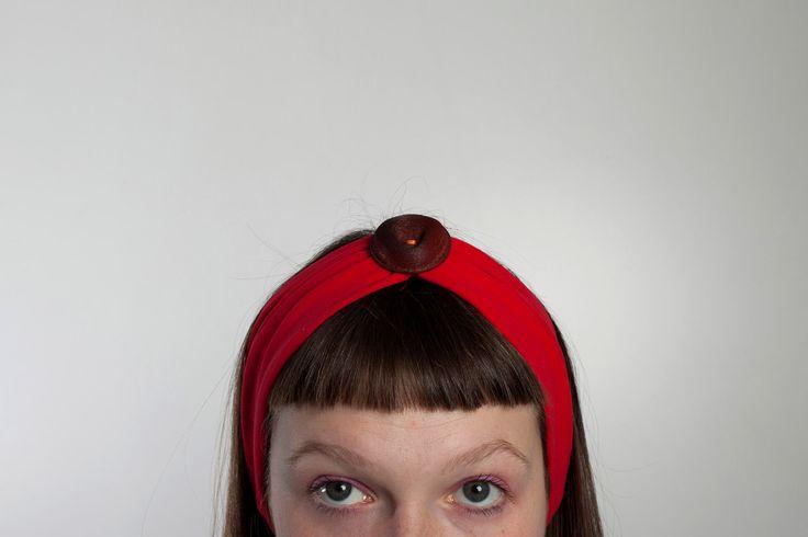 Fasce per capelli con bottone! di LucyvanFelt su Etsy