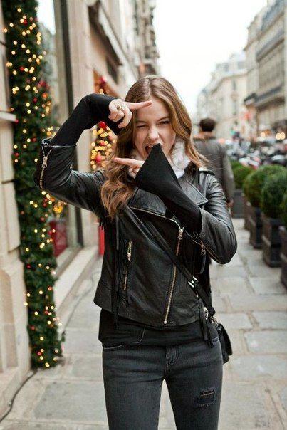 Black leather jacketBlack Leather Jackets, Fashion, Biker Jackets, Street Style, Black Outfit, Barbara Palvis, Tres Chic, Barbarapalvin