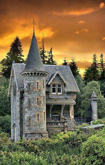 Evening View of Scottish Castle
