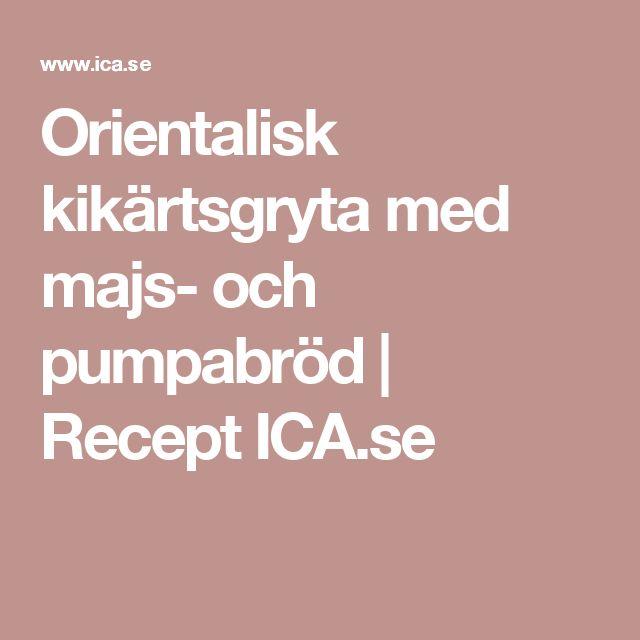 Orientalisk kikärtsgryta med majs- och pumpabröd   Recept ICA.se