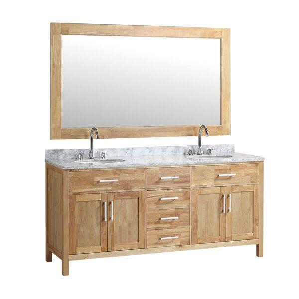 "Dennis 72"" Double Bathroom Vanity & Mirror Set"