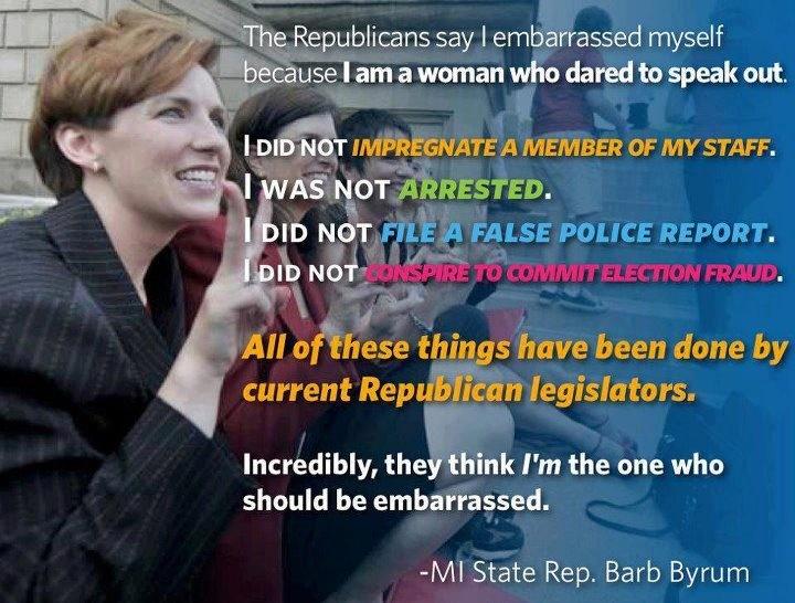 Democrat State Rep. of MI, Barb ByrumThe Women, House Floors, Republican Ridiculous, Go Girls, Girls Generation, Michigan House, Women Issues, Politics Politics, Barbed Byrum