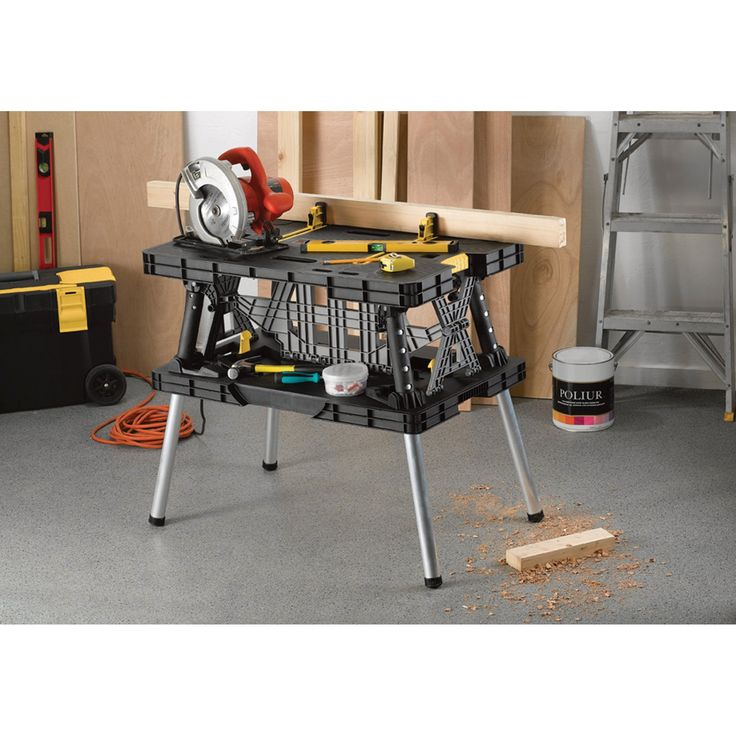 FREE SHIPPING — Keter Folding Work Table — 33 1/2in.L x 21 3/4in.W x 29 3/4in.H, Model #17182239   Work Tables  Northern Tool + Equipment