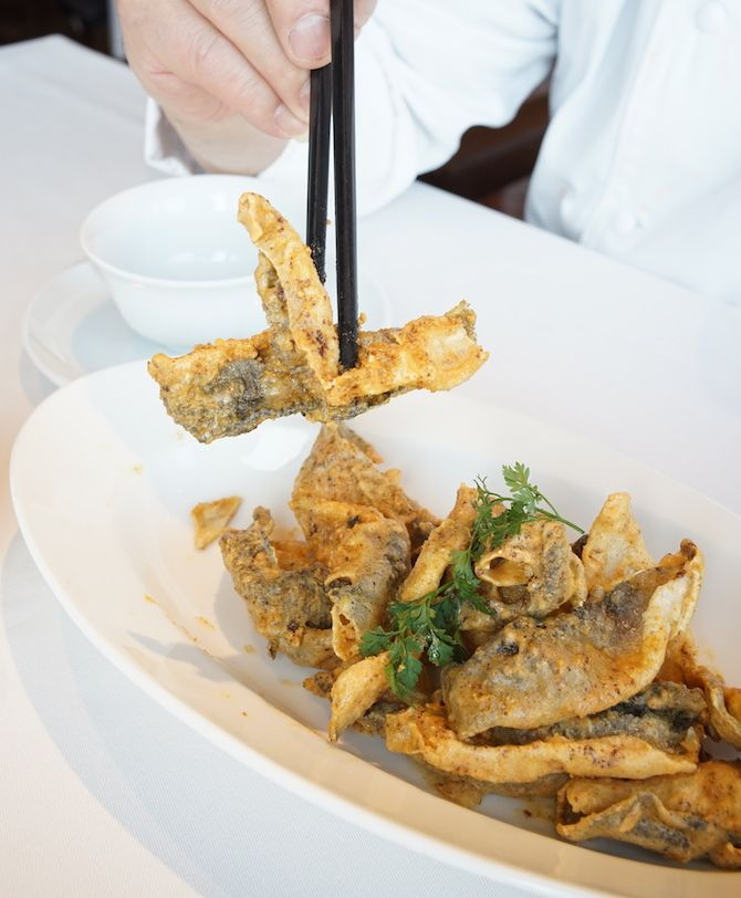 Recipe Deep Fried Fish Skin With Salted Egg Yolk Fried Fish Deep Fried Fish Salted Egg Yolk