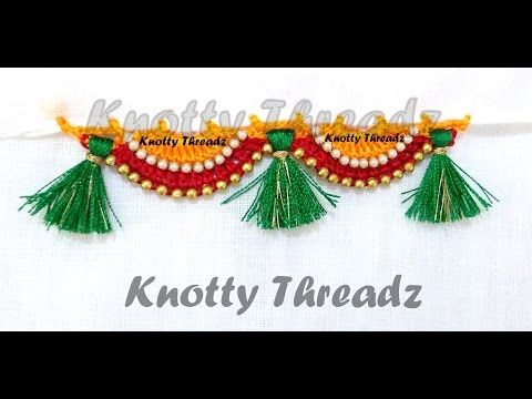 HOW TO MAKE SAREE KUCHU-LATEST DESIGN 04 DIY TUTORIAL LEARN SAREE KUCHU # TASSELS - YouTube