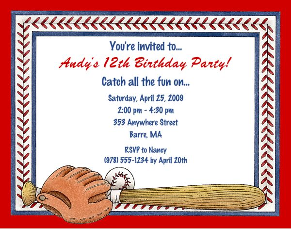 30 best baseball idea images on pinterest | baseball party, Birthday invitations