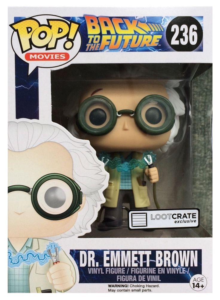 Dr. Emmett Brown Back to the Future Funko Pop Vinyl #236 Doc Brown (Loot Crate)
