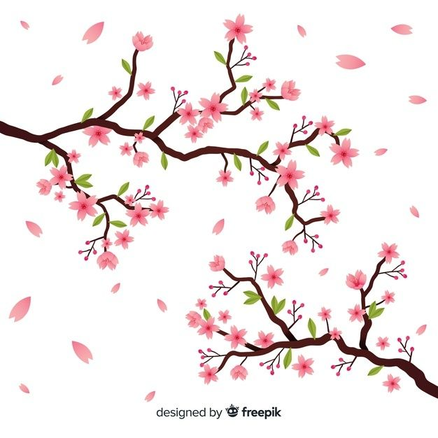 Download Hand Drawn Cherry Blossom Branch For Free Cherry Blossom Branch Cherry Blossom Background Floral Wreath Wedding Invitation