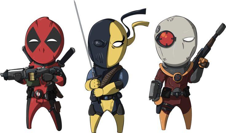 MarvelDC Deadpool Deathstroke Deadshot Super Hero