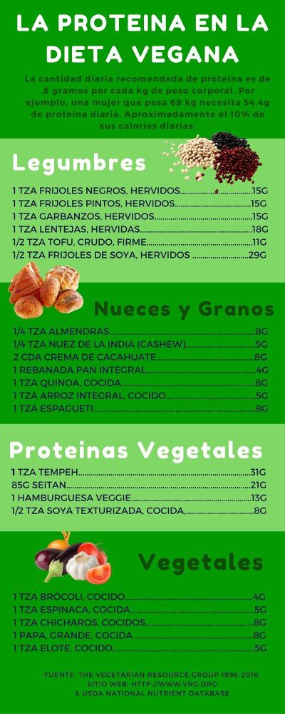 La Proteina en la Dieta Vegana  Pinterest | https://pinterest.com/iloverecetas/