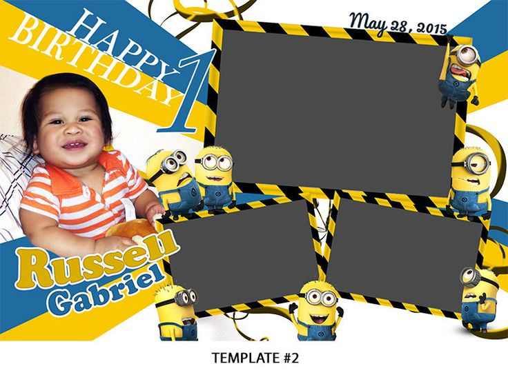 Baptism / Birthday Photo booth Layout 4x6in Baptism Theme