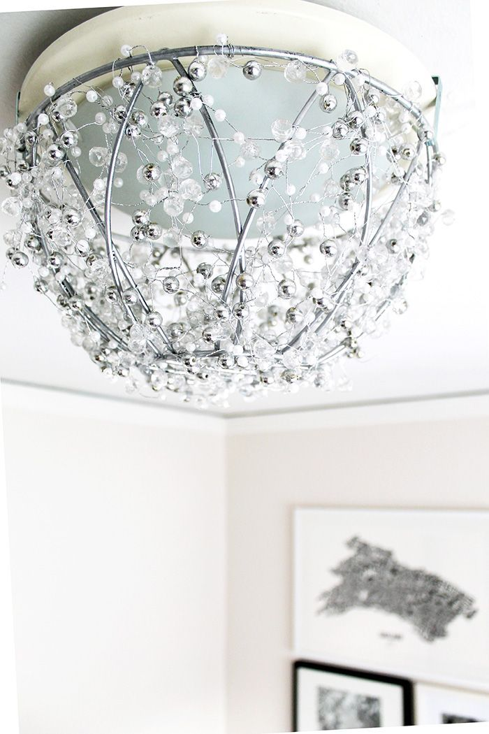 online buy sunglasses DIY Chandelier Made From a Hanging Plant Basket   http   www hammerandheelsblog com diy chandelier