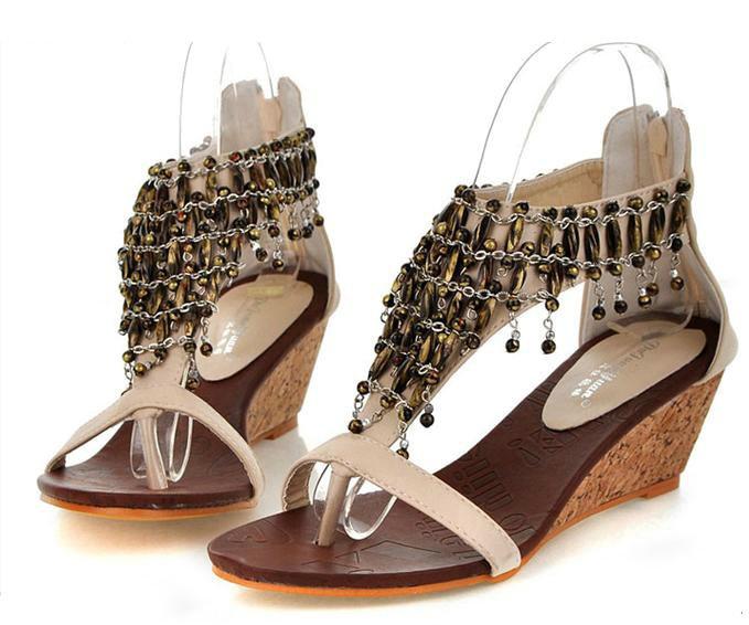 2012 summer Bohemia style metal womens wedge sandals: Fashion Style, Wedge Sandals, Bohemia Sandal, Women'S Wedges