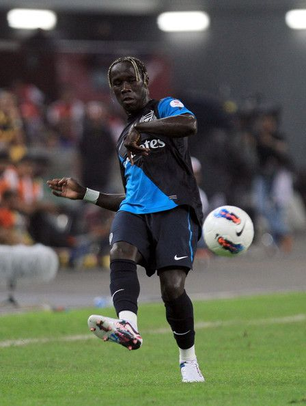 Bacary Sagna of Arsenal in action during the pre-season Asian Tour friendly match between Malaysia and Arsenal at Bukit Jalil National Stadium on July 13, 2011 in Kuala Lumpur, Malaysia.