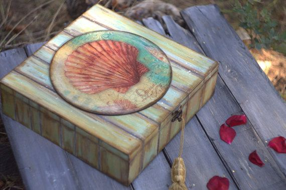 Big Wooden  Tea Box rustic tea box nautical tea от ArtDecoMoldova