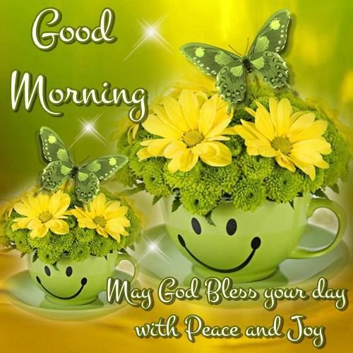 Good Morning, May God Bless your day with Peace and Joy.