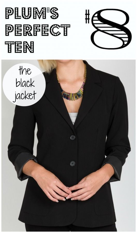 Plum's Perfect 10 is a collection of 10 items that we love. Our 8th selection is the Tobias black jacket that is designed in-house and made in Canada. How are you wearing it?
