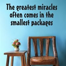 Wallsticker The greatest Miracles