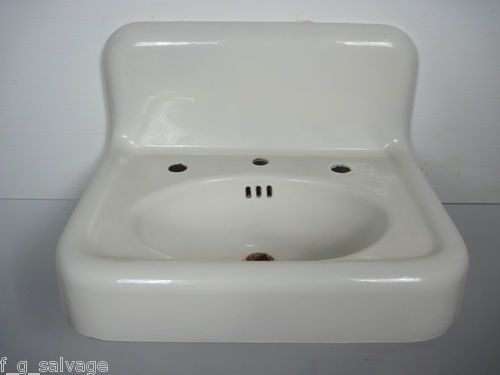 Vintage Wall Sink : Antique Vintage Bathroom Sink American Standard Cast Iron Wall Hung ...