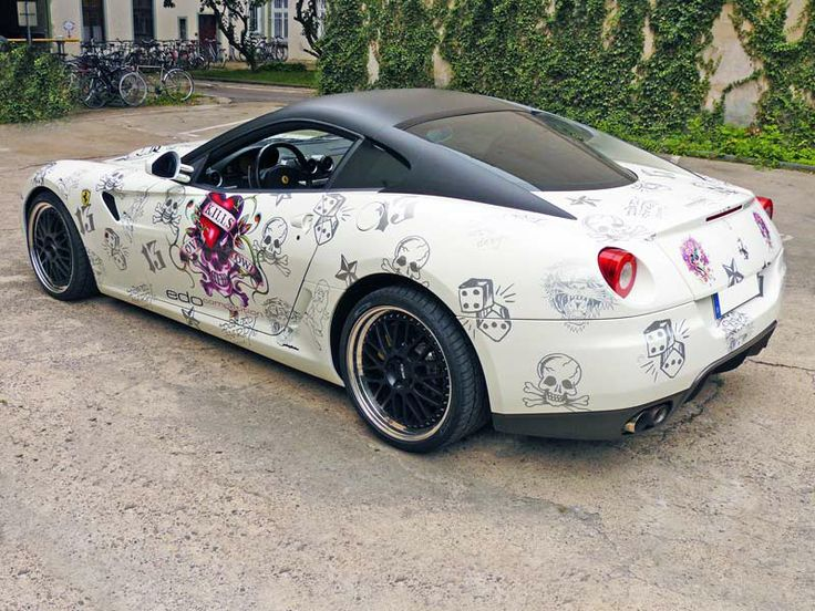 ed hardy ferrari - I've never stolen anything before and never would...but I have to say...I'd be very tempted if I saw this car out somewhere.