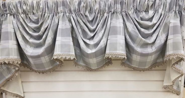 Overpass 3 Scoop Empire Valance. Available in 3 Colors @ $179.99. Vapor (as shown), Cayenne and Breeze. To Order Call toll-free 877-722-1100