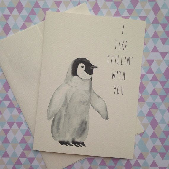 Let someone know how you really feel about them with this adorable little penguin pun card. I created this card for my special someone and