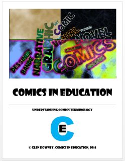 Want handouts for your students that provide them with some of the most important terms related to the format, layout, structure, and analysis of comics and graphic novels? This PDF contains information about terms that define the form, basic comics terminology, the language of film (crucial to the study of visual narrative), and the language of the Gaze, a branch of critical theory that explores subject-object relations.