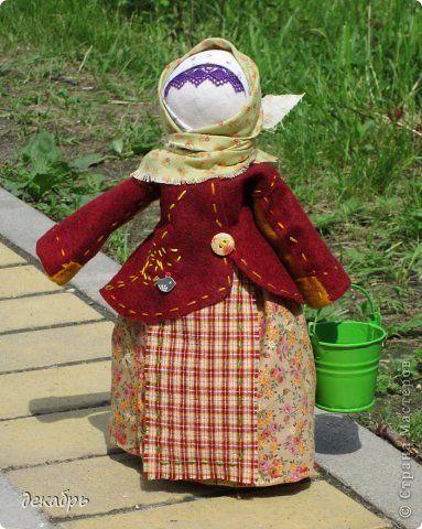 Куклы 8 марта День рождения Праздник осени Шитьё Баба в коротайке Сутаж тесьма шнур Ткань Фетр фото 1