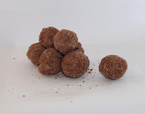 Cocoplum Truffles  Indulgent and smooth Belgian Milk Chocolate truffles, coated and rolled in milk chocolate crumbs.