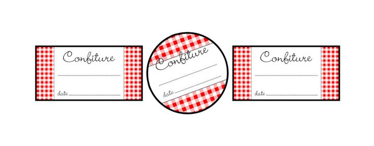 """Nostalgic French Jelly Jar Labels {Printable & Free}  // The famous French brand """"Bonne Maman"""" uses a similar pattern to this one in the design of their jelly jar labels. The …"""