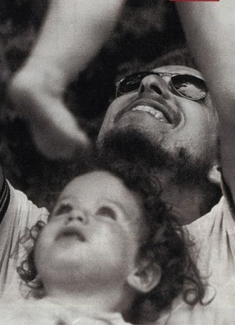 .Bob Dylan with his daughter Anna