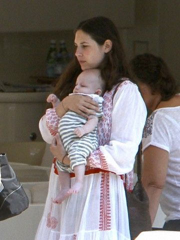 Tatiana Santo Domingo and their new son in Portofino on 1st of July 2013