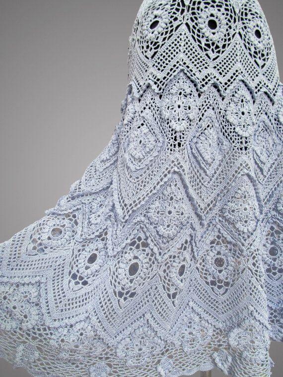 Nacida de la espuma del mar. Vestido de crochet por TsarevaCrochet