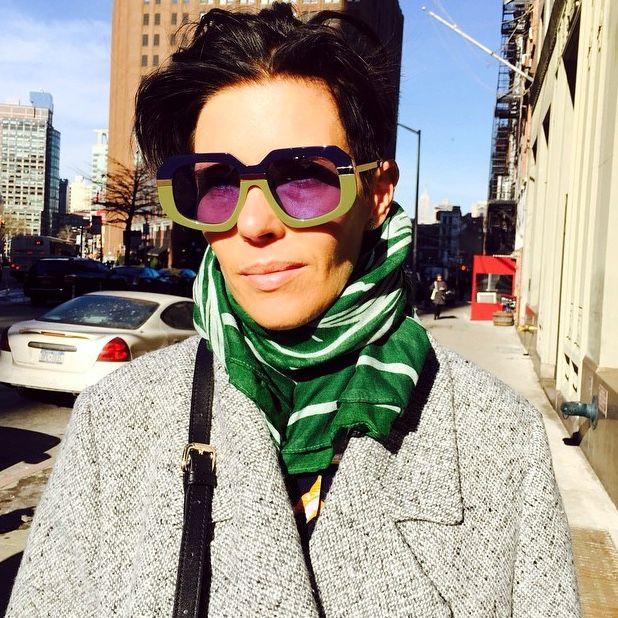 Karen Walker wearing Karen Walker!! Karen in New York. #madestore #karenwalker